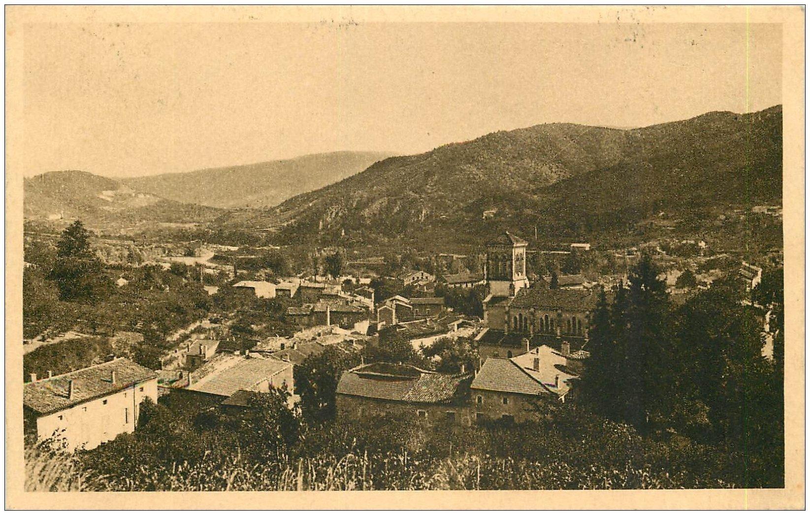 carte postale ancienne 07 SAINT-FORTUNAT-SUR-EYRIEUX. Le Village