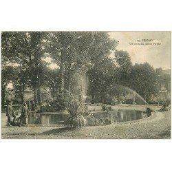 carte postale ancienne 27 BERNAY. Jardin Public avec son Gardien 1915