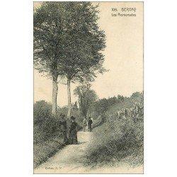 carte postale ancienne 27 BERNAY. Les Promenades avec Elégantes 1915