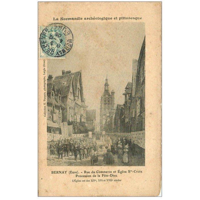 27 bernay procession f te dieu rue du commerce 1905 - Frais de port gratuit rue du commerce ...