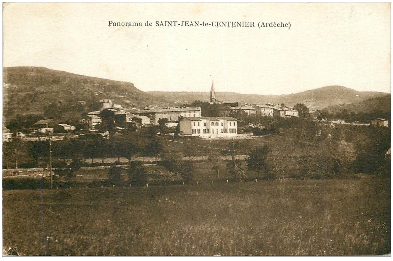 carte postale ancienne 07 SAINT-JEAN-LE-CENTENIER. Le Village 1951