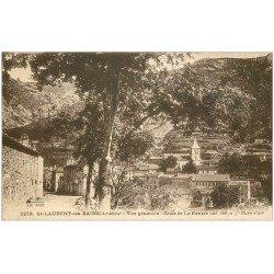 carte postale ancienne 07 SAINT-LAURENT-LES-BAINS. Route de la Bastide 1931