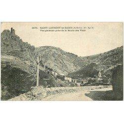carte postale ancienne 07 SAINT-LAURENT-LES-BAINS. Route de Vans