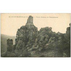 carte postale ancienne 07 SAINT-MARTIN-DE-VALAMAS. Château de Rochebonne