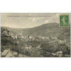 carte postale ancienne 07 SAINT-PIERREVILLE. Route du Village 1921