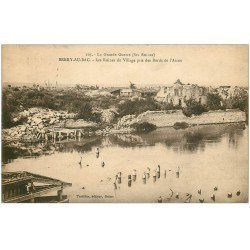 carte postale ancienne 02 BERRY-AU-BAC. Les Ruines du Village 1924