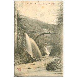 carte postale ancienne 07 SAINT-SAUVEUR-DE-MONTAGUT. Pont d'Orsane 1904