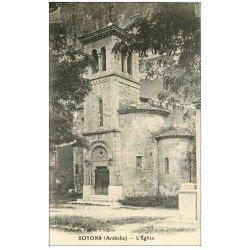 carte postale ancienne 07 SOYONS. L'Eglise