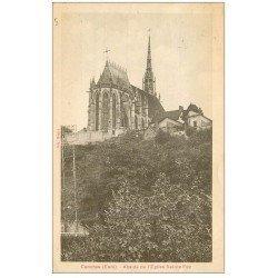 carte postale ancienne 27 CONCHES. Eglise Sainte-Foy Abside