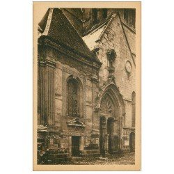 carte postale ancienne 27 CONCHES. Eglise Sainte-Foy façade