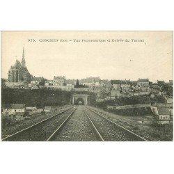 carte postale ancienne 27 CONCHES. Entrée du Tunnel