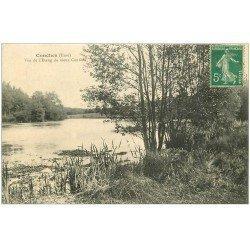 carte postale ancienne 27 CONCHES. Etang 1916