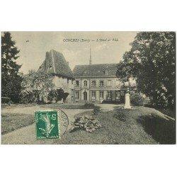 carte postale ancienne 27 CONCHES. Hôtel de Ville 1908