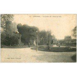carte postale ancienne 27 CONCHES. Hôtel de Ville les Jardins 1913