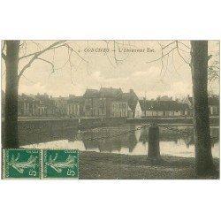 carte postale ancienne 27 CONCHES. L'Abreuvoir 1918