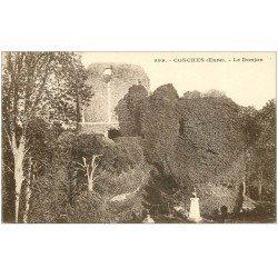 carte postale ancienne 27 CONCHES. Le Donjon 999