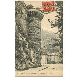 carte postale ancienne 07 TOURNON. Tour du Roi au Château 1917
