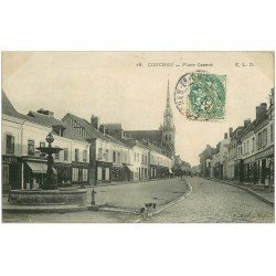 carte postale ancienne 27 CONCHES. Place Carnot 1907