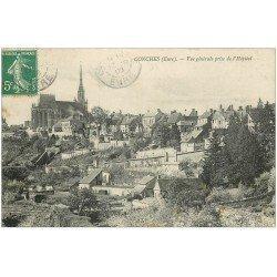 carte postale ancienne 27 CONCHES. Vue de l'Hôpital 1908