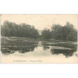 carte postale ancienne 27 CONDE-SUR-ITON. Château Etang