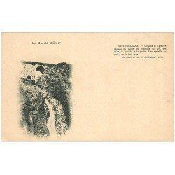 carte postale ancienne 07 VALS PRECIEUSE. La Gueule d'Enfer. Carte Pionnière vers 1900 vierge...