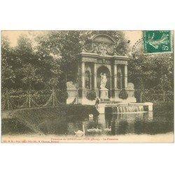 carte postale ancienne 27 CONDE-SUR-ITON. Château Fontaine 1902