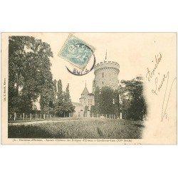 carte postale ancienne 27 CONDE-SUR-ITON. Château vers 1903 n°76