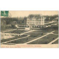 carte postale ancienne 27 CONDE-SUR-ITON. Château. fine plissure