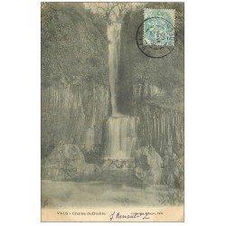 carte postale ancienne 07 VALS-LES-BAINS. Chaise du Diable 1905. Cascade