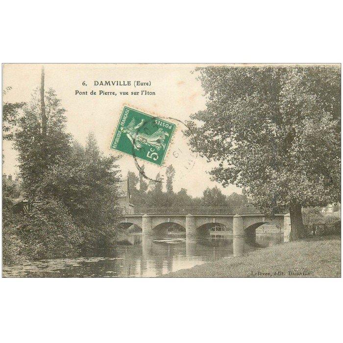 27 damville pont de pierre sur l 39 iton 1913 - Piscine pont st pierre 27 ...
