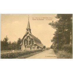 carte postale ancienne 27 ECOLE DES ROCHES. La Chapelle
