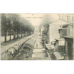 carte postale ancienne 27 EVREUX. Allée des Soupirs 1914