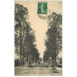 carte postale ancienne 27 EVREUX. Avenue de Cambolle 1905 Route de Caen