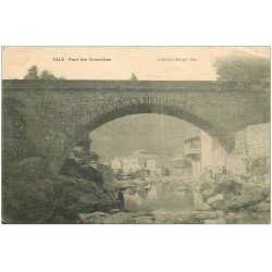 carte postale ancienne 07 VALS-LES-BAINS. Pont des Vivaraises 1905