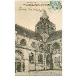 carte postale ancienne 27 EVREUX. Eglise de l'Abbaye 1907