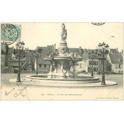 carte postale ancienne 27 EVREUX. Fontaine Monumentale 1904