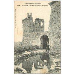 carte postale ancienne 07 VERNOUX. Château de la Tourette 1911