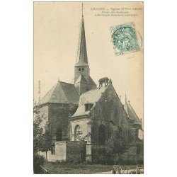 carte postale ancienne 08 AMAGNE. Eglise 1907