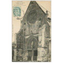 carte postale ancienne 08 AMAGNE. Eglise 1907 façade