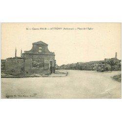 carte postale ancienne 08 ATTIGNY. Personnages Place de l'Eglise. Guerre 14-18