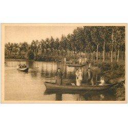 carte postale ancienne 27 GISORS. Canotage sur Etang de la Balastière