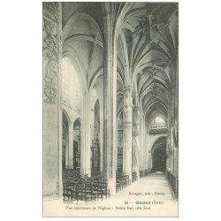 carte postale ancienne 27 GISORS. Cathédrale Nef