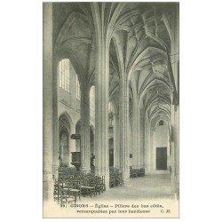 carte postale ancienne 27 GISORS. Cathédrale Piliers