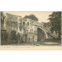 carte postale ancienne 27 GISORS. Château Corps de Garde animation