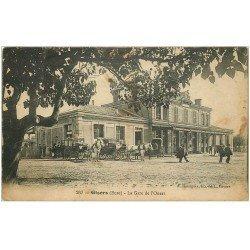 carte postale ancienne 27 GISORS. Diligences Gare de l'Ouest 1918