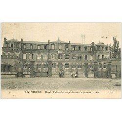 carte postale ancienne 27 GISORS. Ecole Primaire Jeunes Filles animation 1909