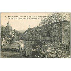 carte postale ancienne 27 GISORS. Tour du Corps de Garde et Clocher Cathédrale