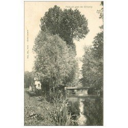 carte postale ancienne 27 GIVERNY. Pont et Gare