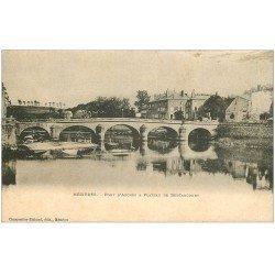 carte postale ancienne 08 CHARLEVILLE MEZIERES. Pont d'Arches Plateau de Bertaucourt