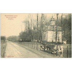 carte postale ancienne 27 LE VAUDREUIL. Le Pavillon et Vaches dans le Parc